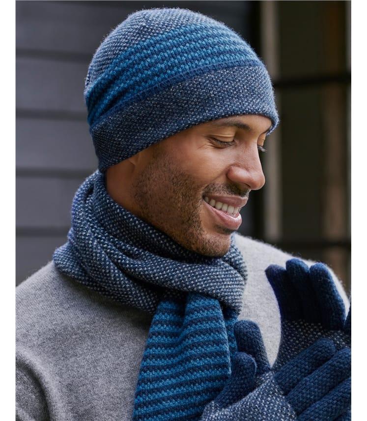 Mens Stitch and Stripe Hat