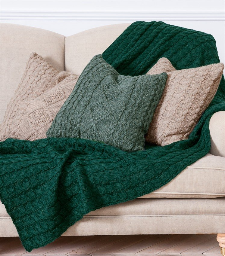 Pure Wool Chunky Cable Throw
