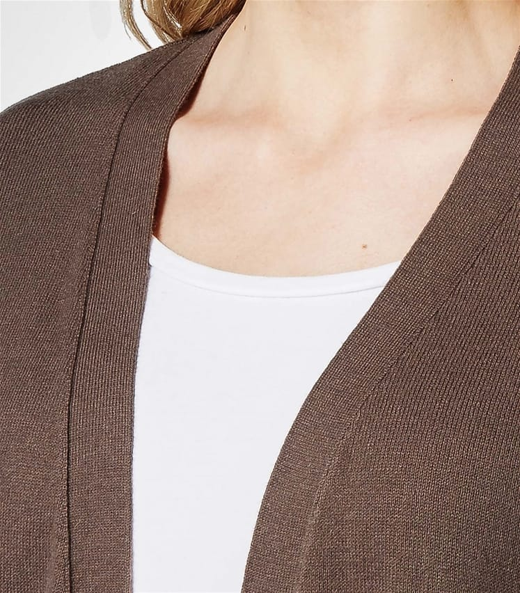 Womens Cashmere and Cotton Edge to Edge Cardigan