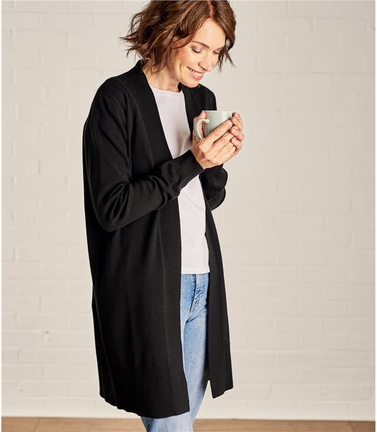 9c9d2717d Womens Cashmere and Merino Edge to Edge Long Cardigan