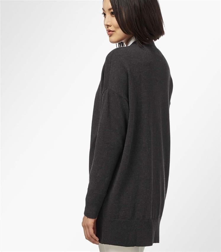 Strickjacke mit abfallende Schulter aus Kaschmir und Baumwolle für Damen