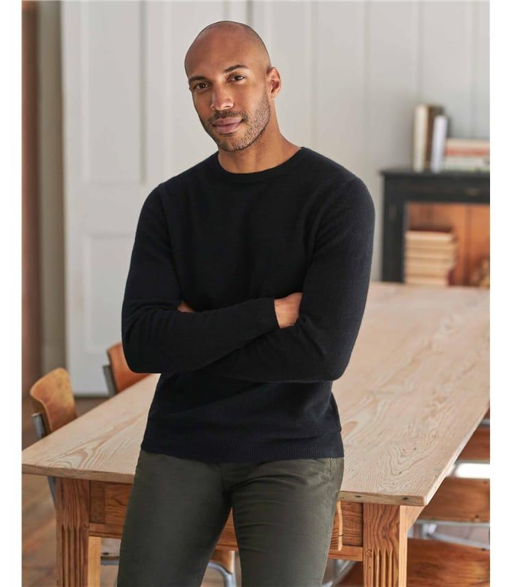 Pure Cashmere Crew Neck Sweater