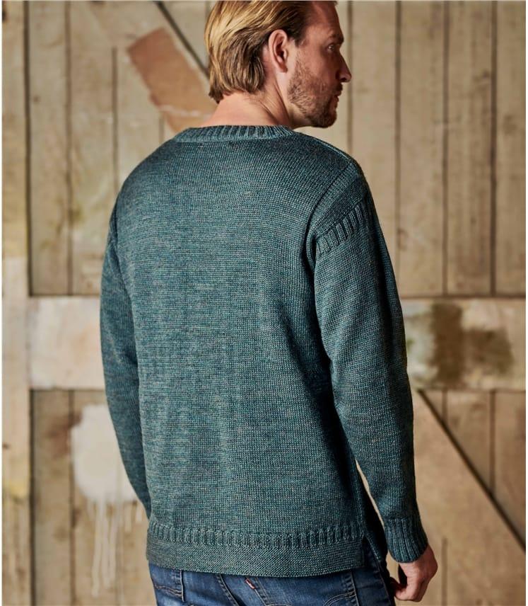 Guernsey-Pullover aus reiner Wolle für Herren