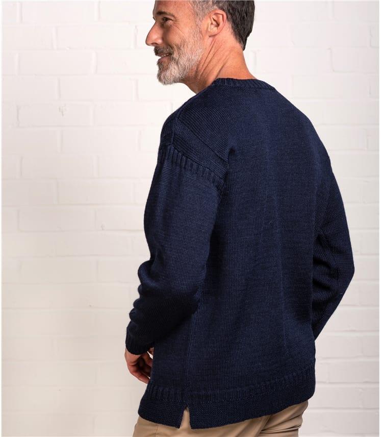 Mens Pure Wool Guernsey Jumper