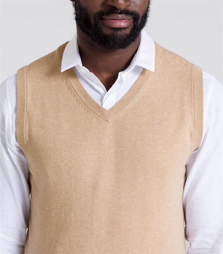Mens Cashmere and Cotton Slipover