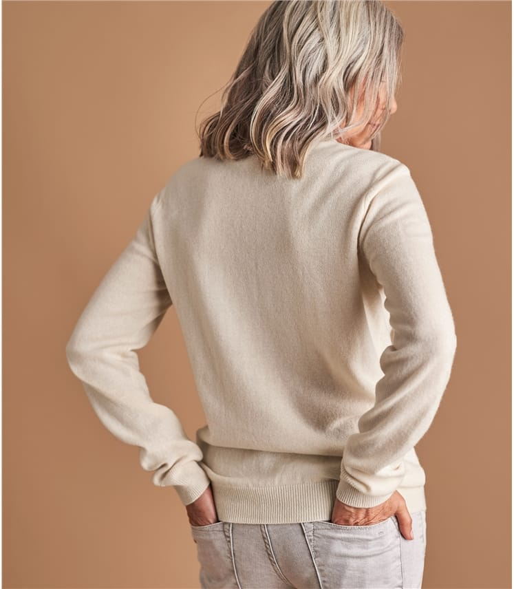 Womens Cashmere and Merino Turtle Neck Jumper