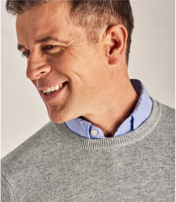 Mens Cashmere and Merino Crew Neck Sweater