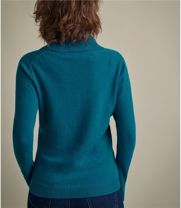 Pullover mit Wasserfallkragen aus Kaschmir für Damen