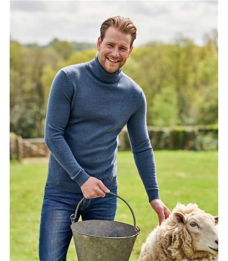 Cashmere and Merino Turtle Neck Sweater