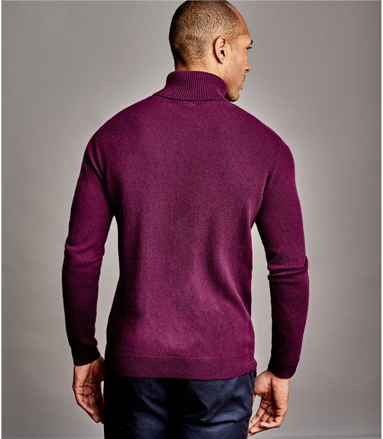 Mens Pure Cashmere Turtle Neck Sweater