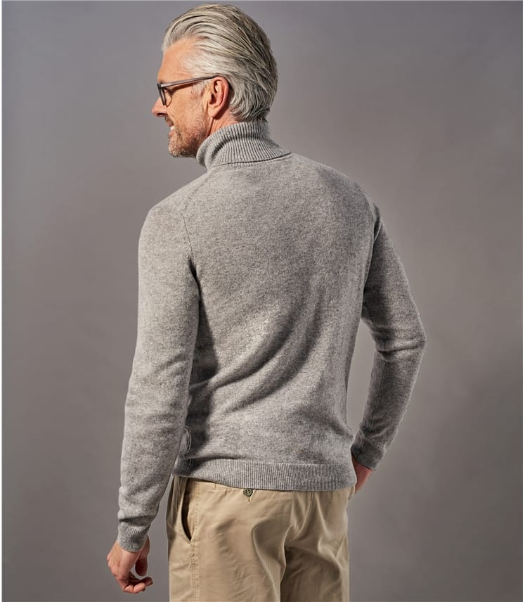 Pure Cashmere Turtle Neck Sweater