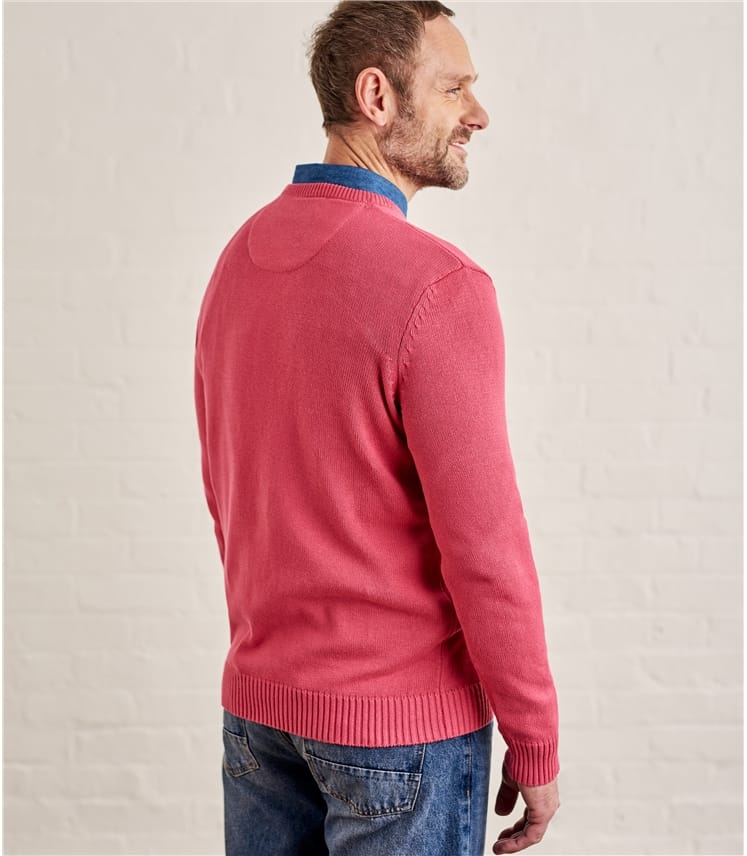 Mens 100% Cotton Crew Neck Jumper