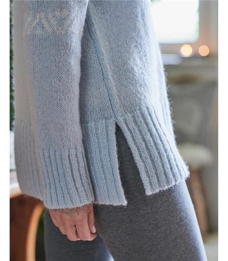 Pullover mit Rippbündchen und Fair Isle-Muster