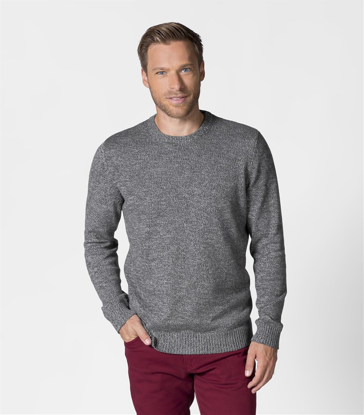 988faeb3850 Mens 100% Cotton Twist Crew Neck Jumper