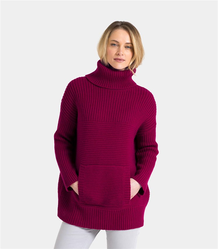 3517795b9c9 Womens Lambswool Chunky Roll Neck Jumper