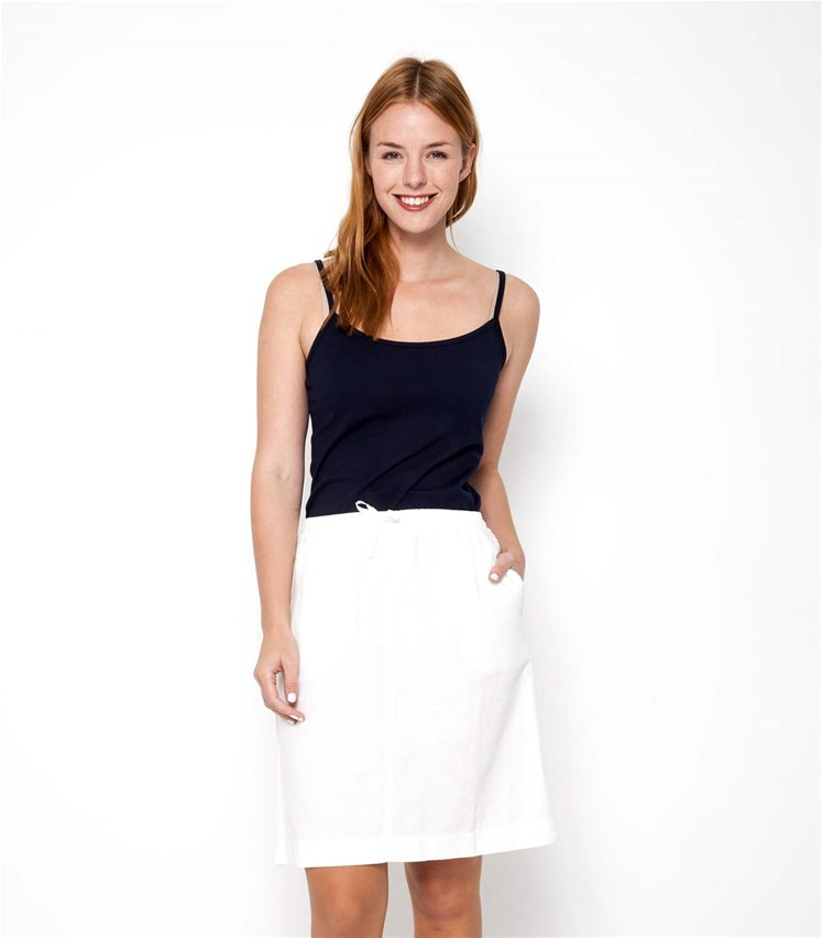 Womens Linen and Cotton Skirt