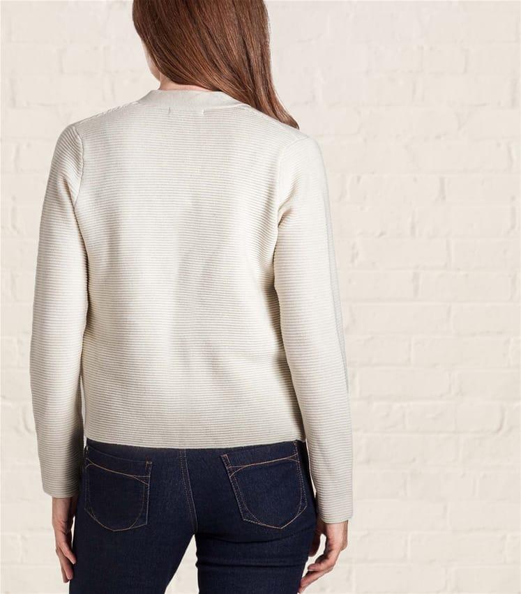 Womens Cashmere and Merino Ripple Stitch Jacket