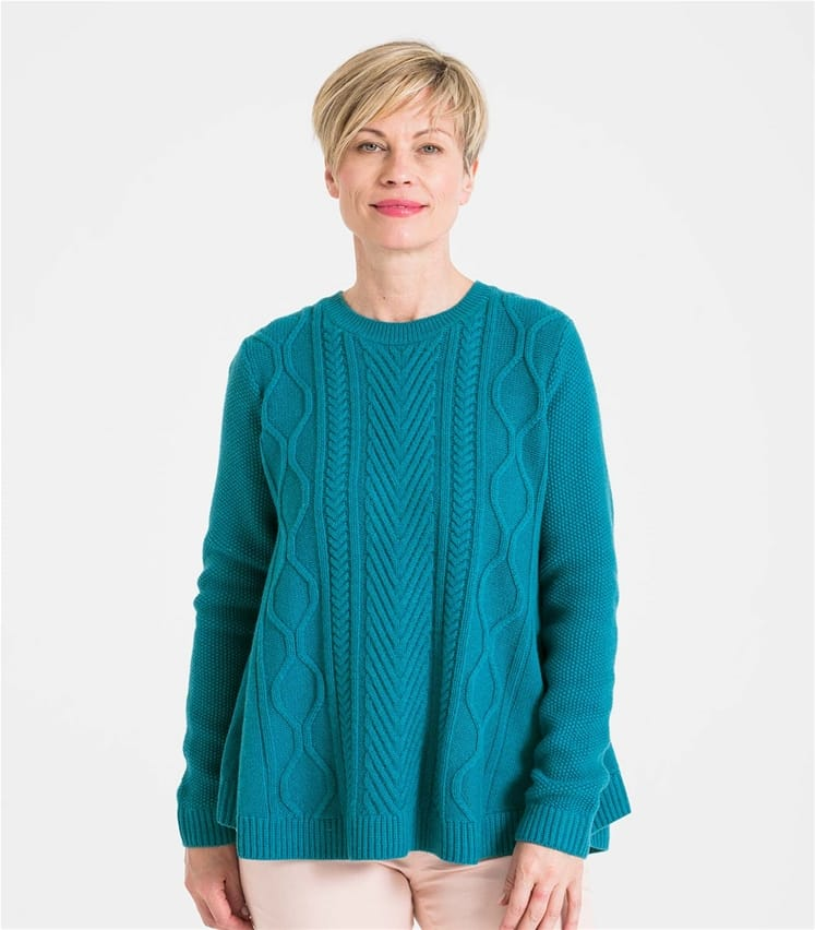 Womens Cable Front Swing Jumper