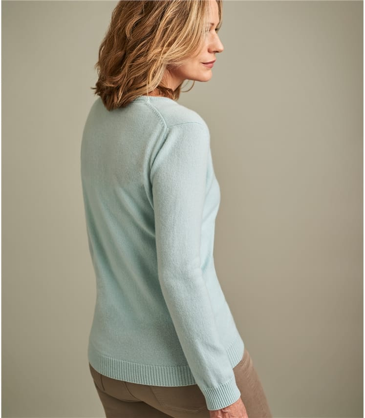 Womens Pure Cashmere V Neck Sweater