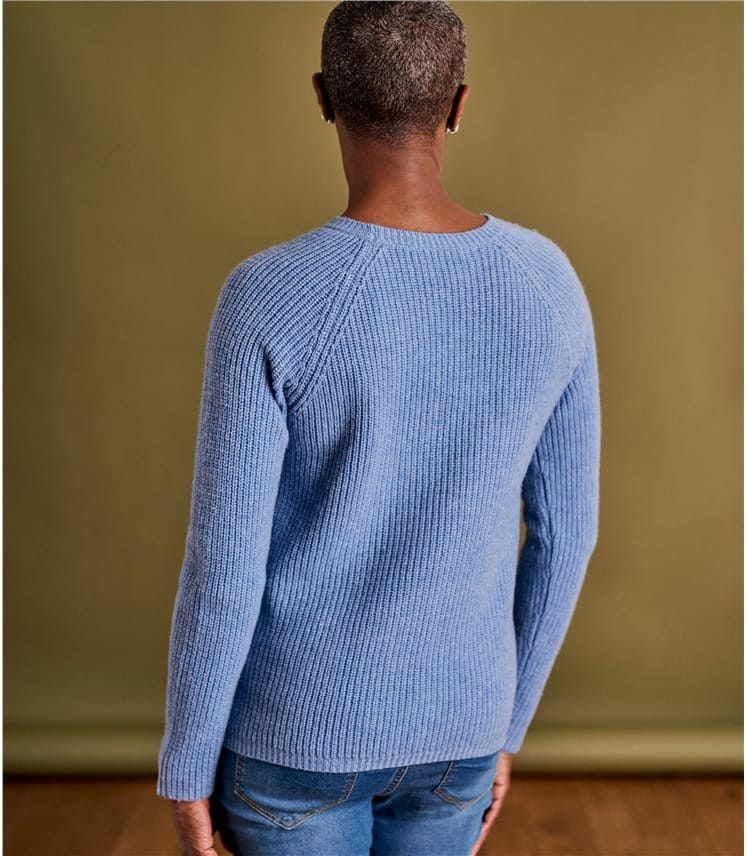 Womens Cashmere Merino Cable Sweater