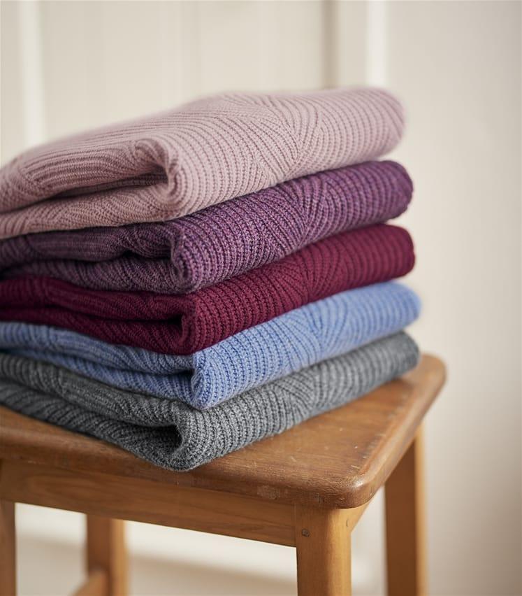 Womens Cashmere Merino Cable Sweater