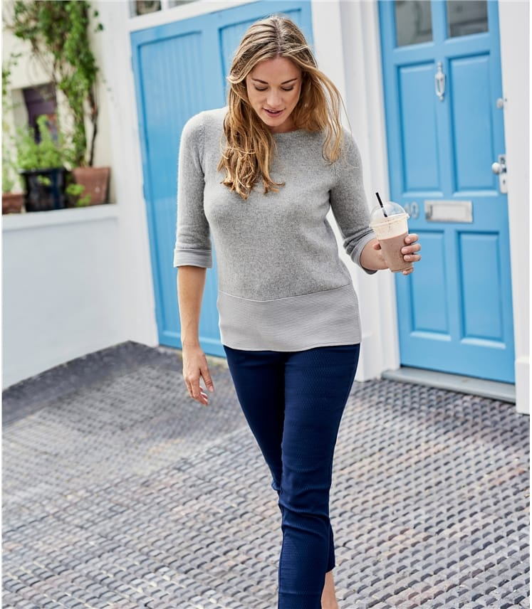 Womens Alpaca Mix Boatneck Jumper
