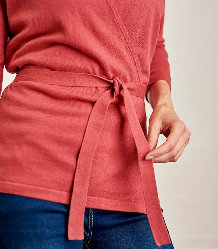 Womens Cotton and Silk Wrap Top