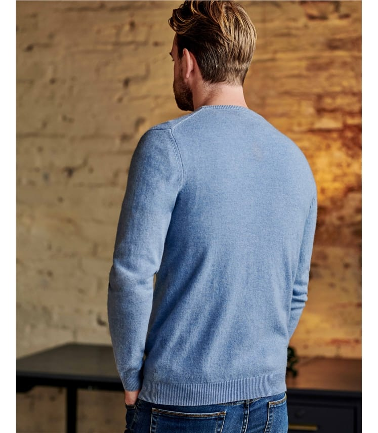 Cashmere and Merino Classic V Neck Knitted Sweater