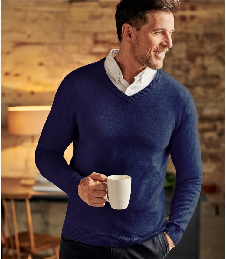 Pure Cashmere V Neck Jumper