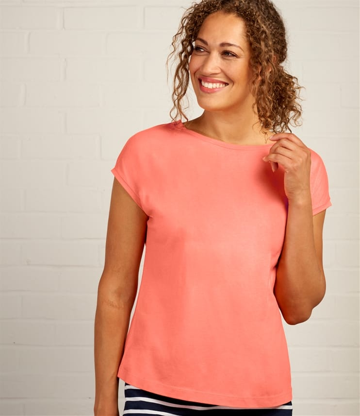 Womens Cap Sleeve T Shirt