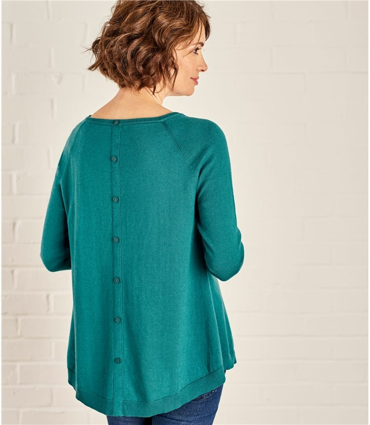 Womens Button Back Sweater