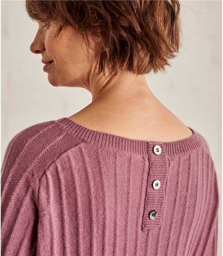 Womens Textured Rib Sweater