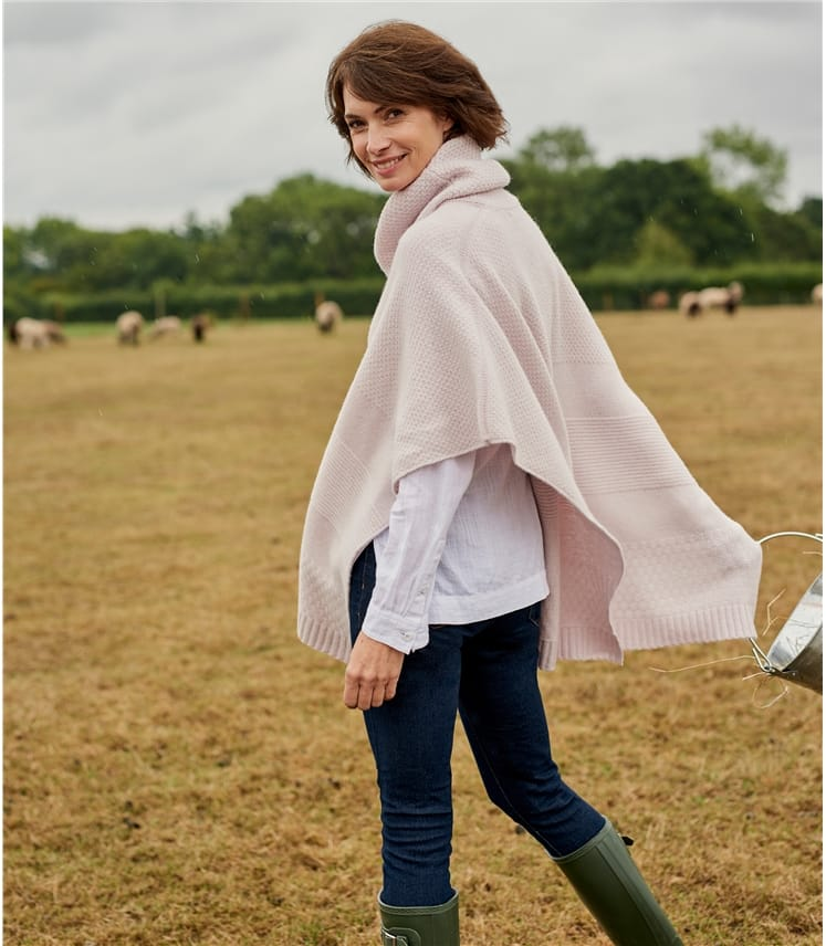 Womens Roll Neck Poncho