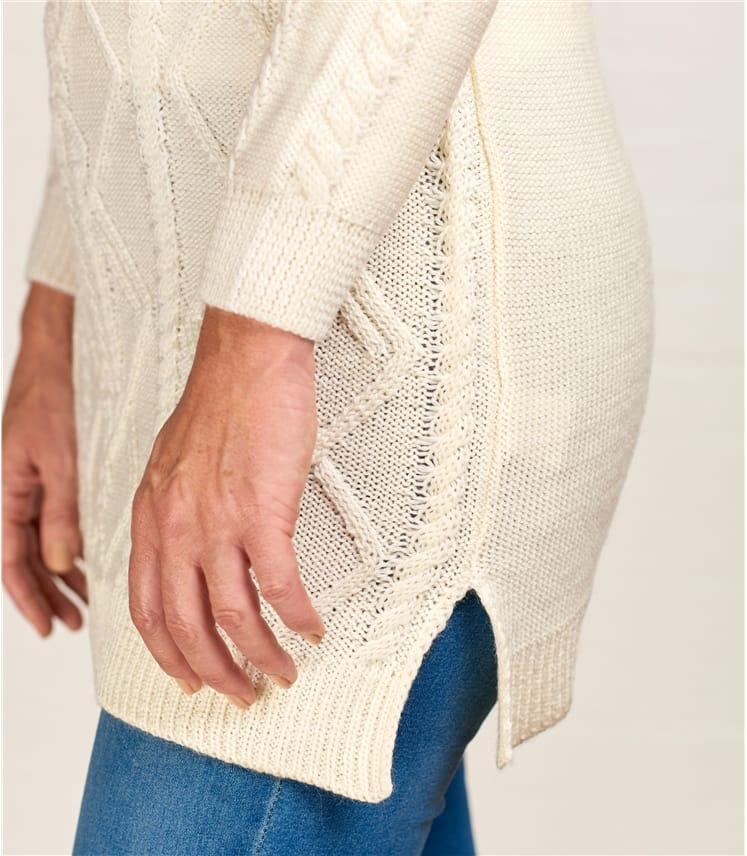Womens Button Shoulder Tunic