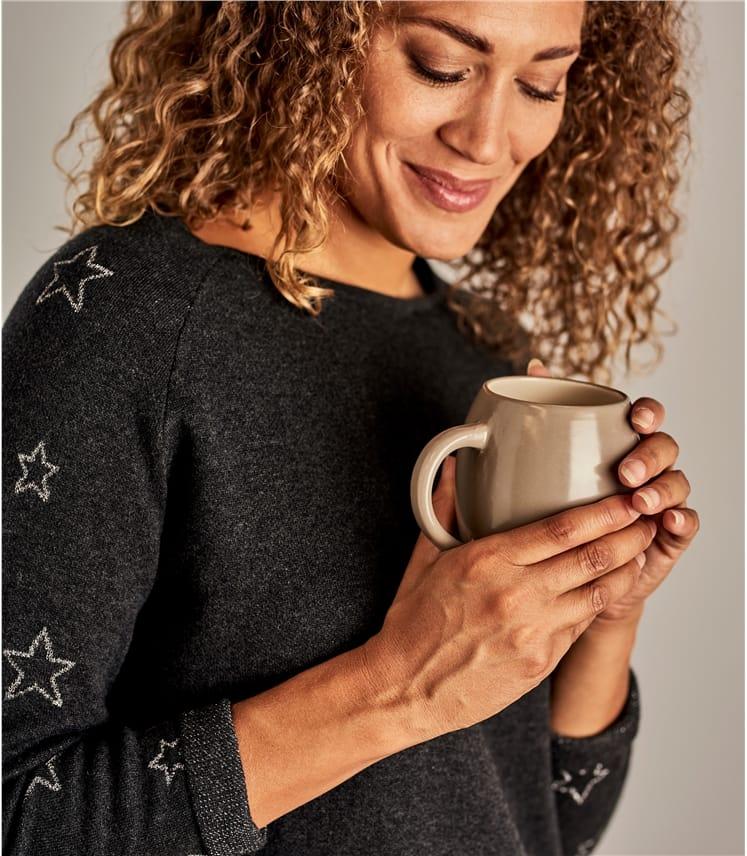 Sweat-shirt cocooning motif étoiles - Femme - Laine mélangée