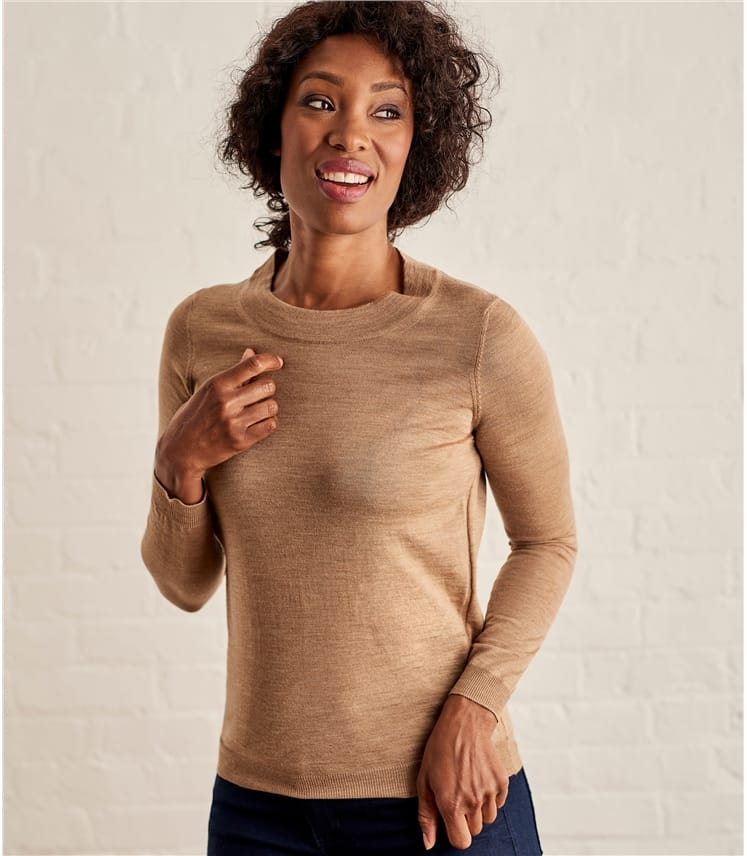 Womens Lightweight 100% Merino Sweater