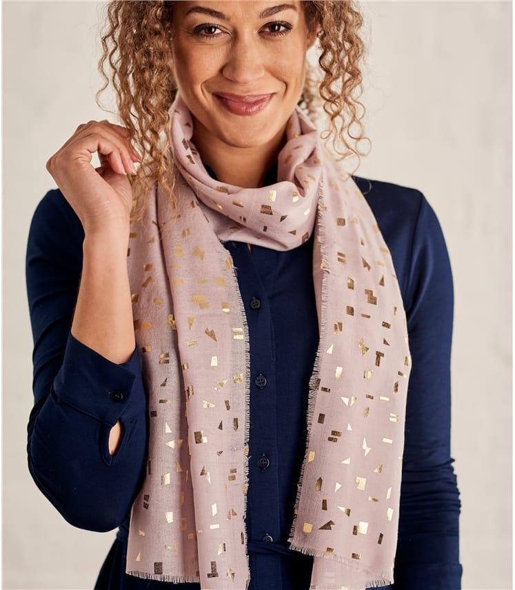 Foulard Imprimé doré - Femme - Pure laine
