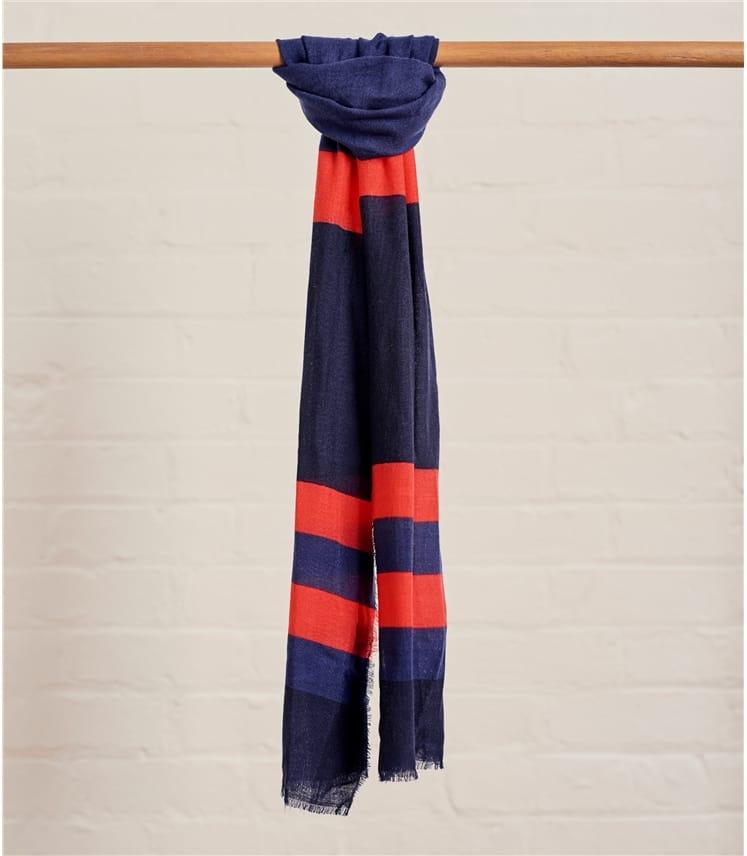 Foulard colour block - Femme - Pure laine
