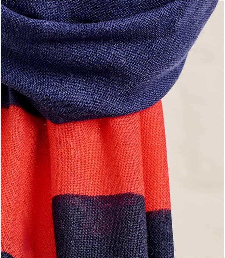 Womens Woven Colour Block Scarf