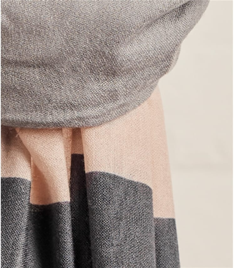 Женский шарф колор блок