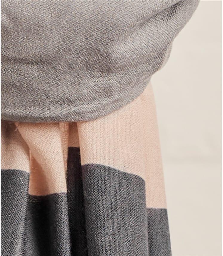 Womens Woven Colour Block Scarf