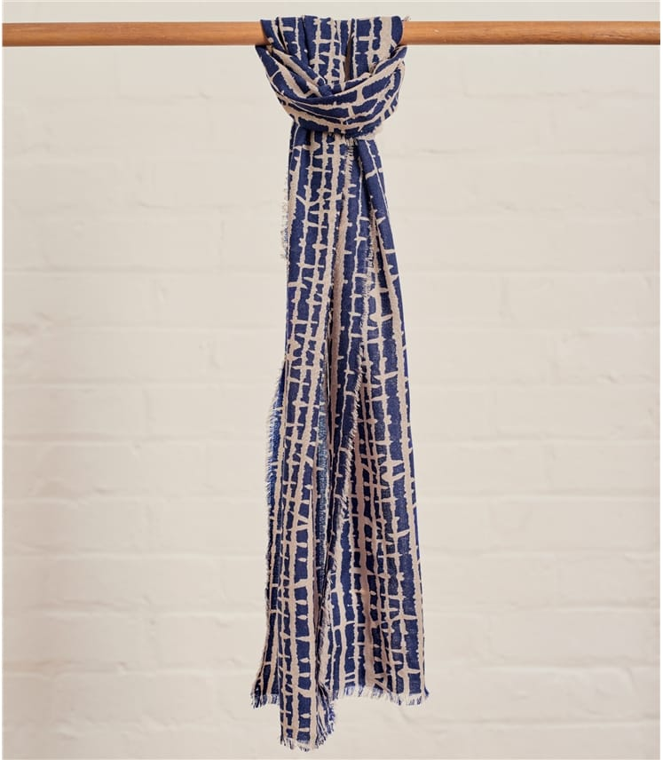 Womens Woven Shatter Print Scarf