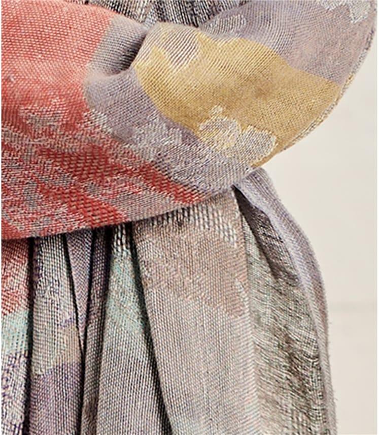 Foulard en jacquard à imprimé fleuri - Femme - Pur Coton