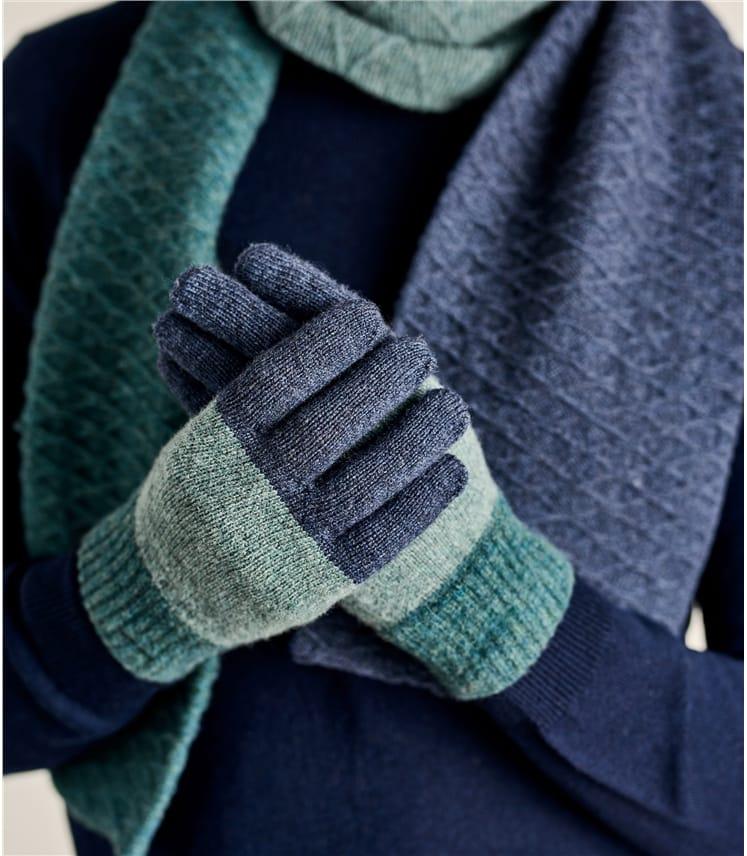 Écharpe colour block - Homme - Laine d'Agneau