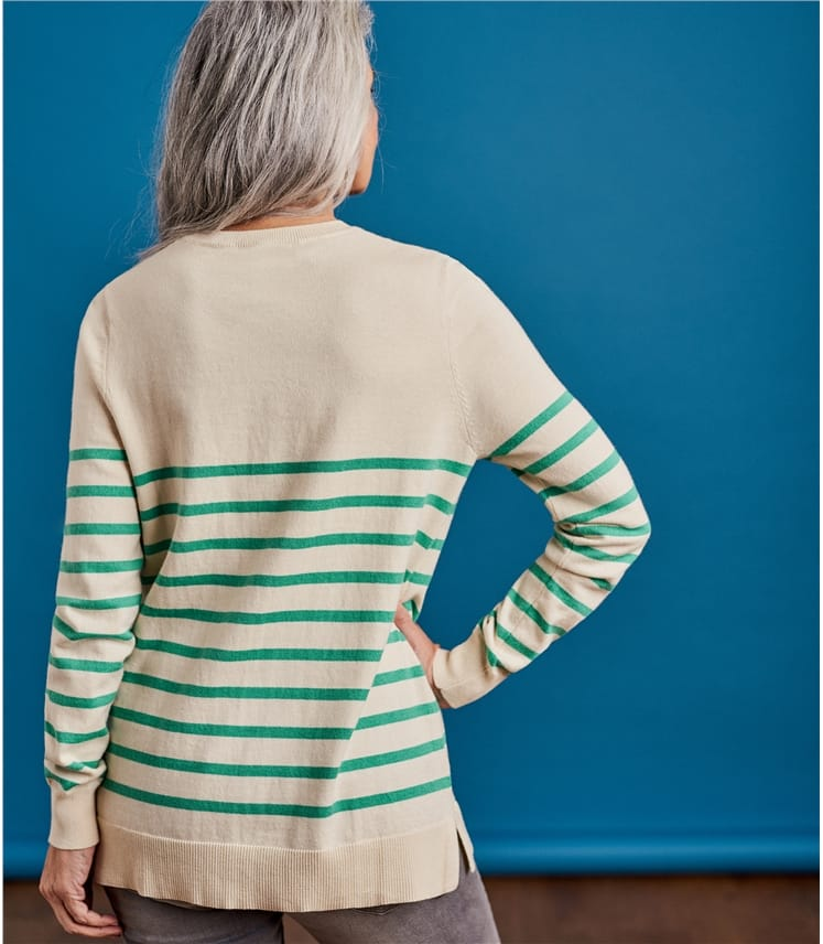 Womens Heart Stripe Jumper