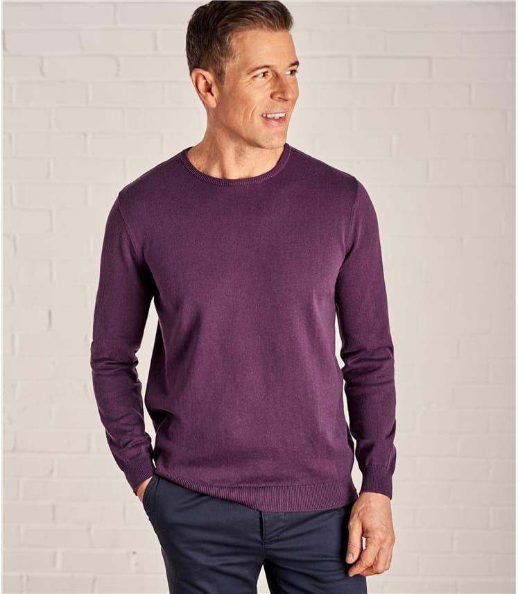 Pullover mit Rundhalsausschnitt aus Baumwolle für Herren
