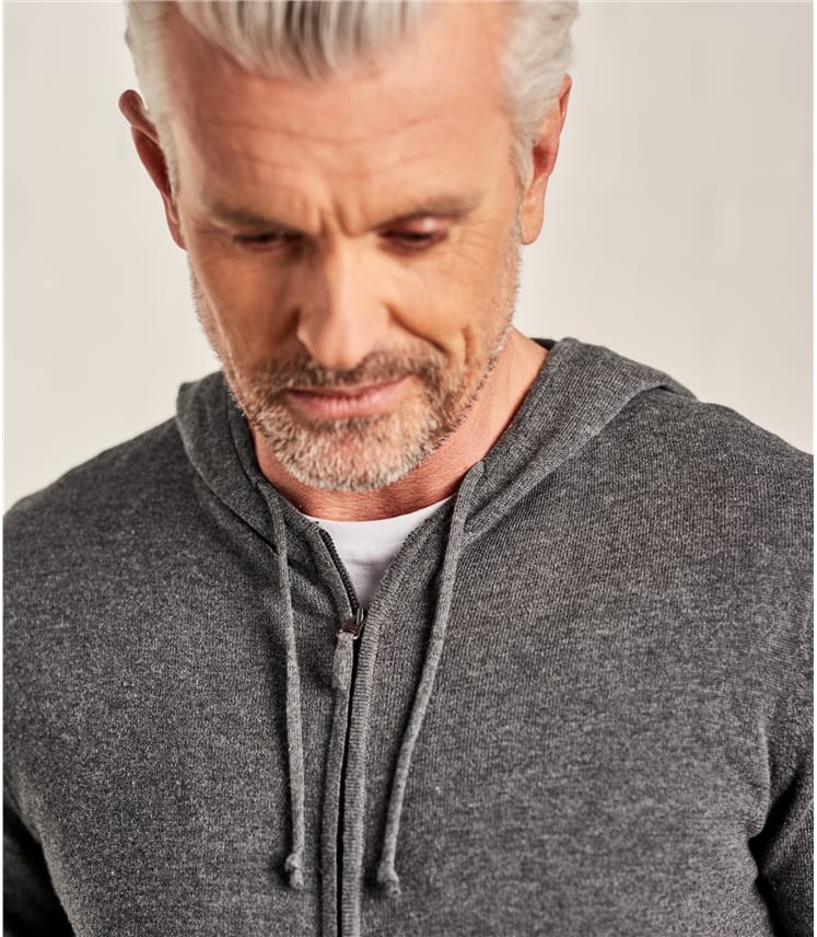 Mens Combed Cotton Zip Through Hoodie