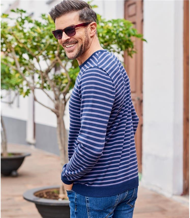 Mens Combed Cotton Crew Neck Sweater