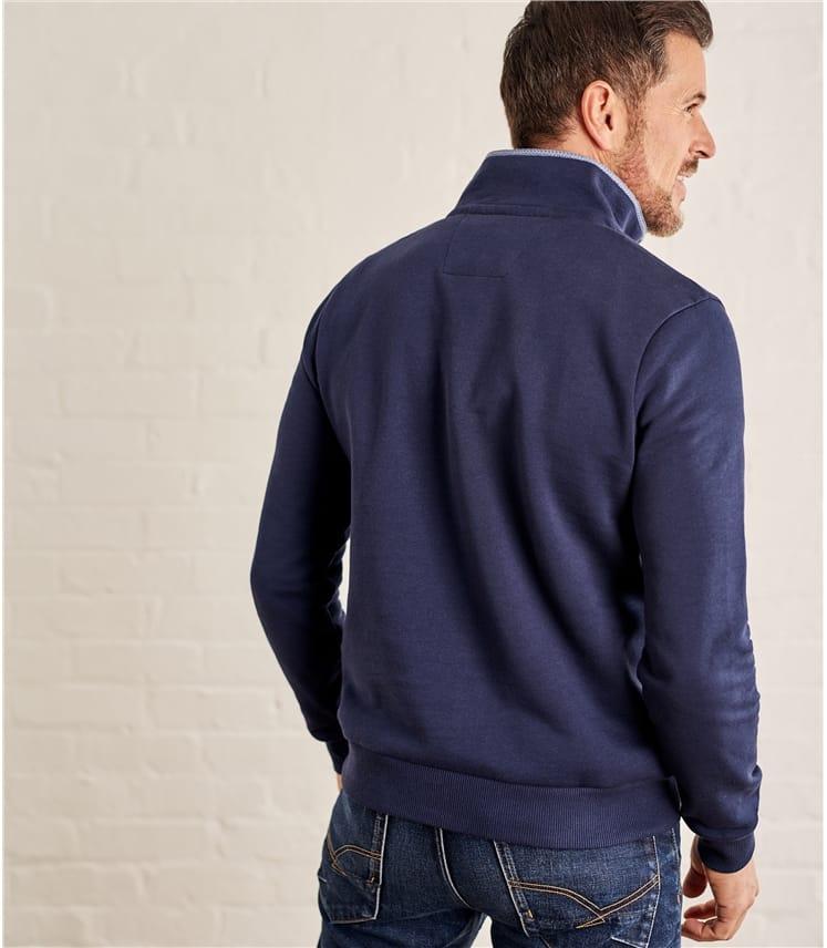 Sweat-shirt à col zippé - Homme - Jersey