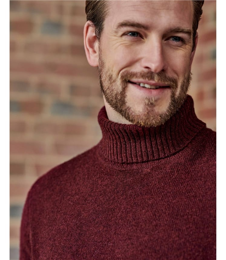 Pure Lambswool Knitted Turtle Neck Sweater